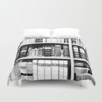 books Duvet Covers featuring Books by RAD WORK (Rebecca Alexandre Designs)