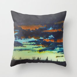 Sunset, Chapman Corner Throw Pillow