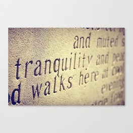 Tranquility Walks Here Canvas Print