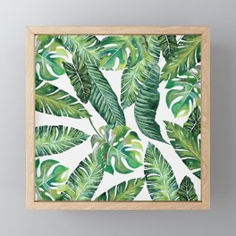 Jungle Leaves, Banana, Monstera #society6 Framed Mini Art Print