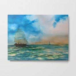 Tallships Metal Print