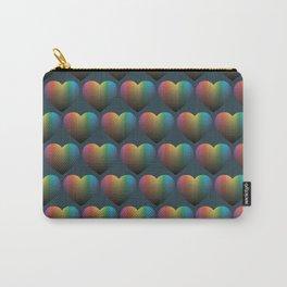 Rainbow Hearts Carry-All Pouch