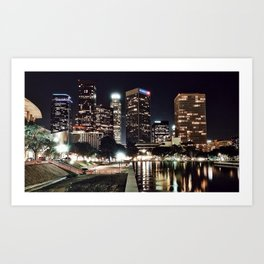 DTLA @ Night Art Print