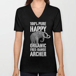 100% PURE HAPPY ORGANIC FREE-RANGE ARCHER Unisex V-Neck