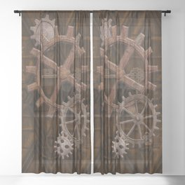Comforts of Steampunk Sheer Curtain