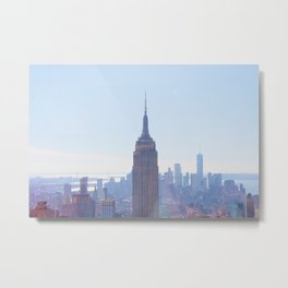The View from the Top of the Rock Metal Print