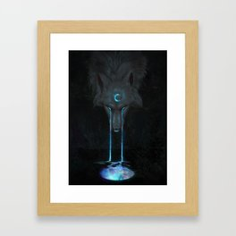 Aurora Moon Framed Art Print