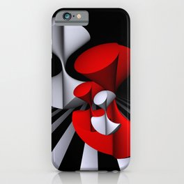 3D in red, white and black -11- iPhone Case