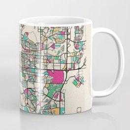 Colorful City Maps: Colorado Springs, Colorado Coffee Mug