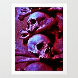 Skulls and Crossed Bones Art Print