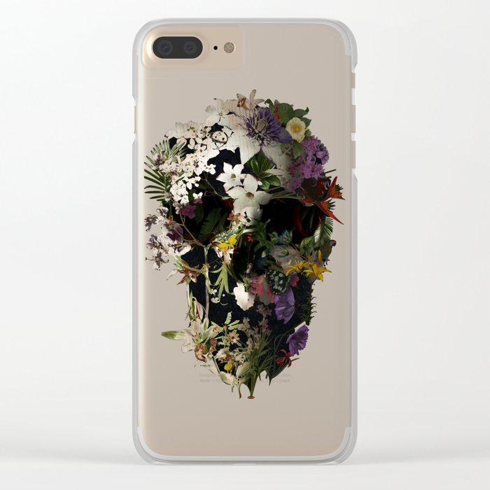 Spring Skull 2 Clear iPhone Case