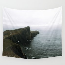 Neist Point Lighthouse II - Landscape Photography Wall Tapestry