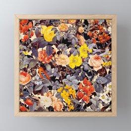 Floral Pattern Framed Mini Art Print