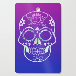 Love Skull (violette gradient) Cutting Board