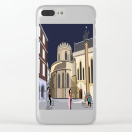 Lovers at Temple Church Clear iPhone Case