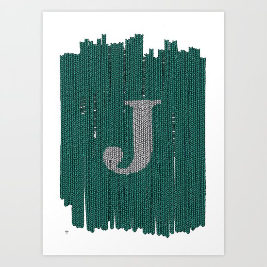 Winter clothes. Letter J III Art Print