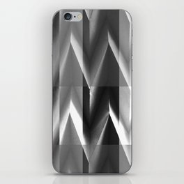 Paper Sculpture 3D Black and White iPhone Skin