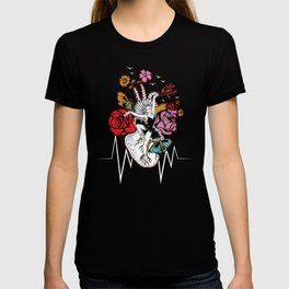 Ballet Dancers Artistic Dancing Ballerina Heart Beat Music Gift T-shirt