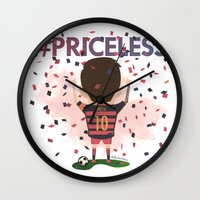 messi Wall Clocks featuring Messi Priceless by Doctor Keros