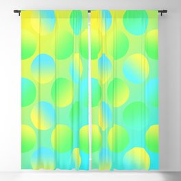 Gradient Polka Dots (Yellow and Green and Blue)! Blackout Curtain