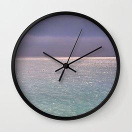 seascape 003: firmament Wall Clock
