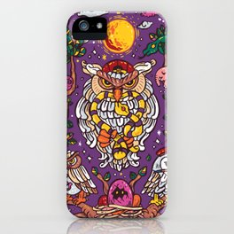 King of owl iPhone Case