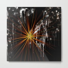 Darkened Conflict Metal Print