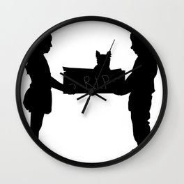 In Training - Funeral Pop Art (signed, dated 2019) Wall Clock