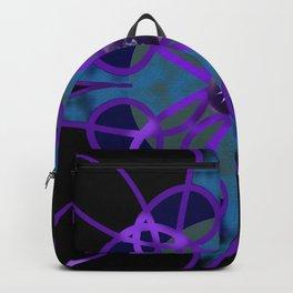 Flower in Purple Backpack