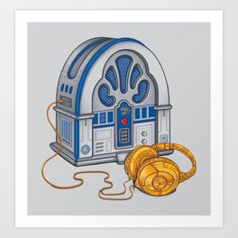 Beats by Droid - Recycled Future Art Print