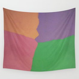 Rainbow Sherbet Color Block Wall Tapestry