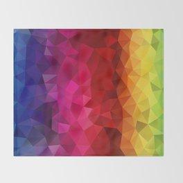Rainbow Polygons Throw Blanket