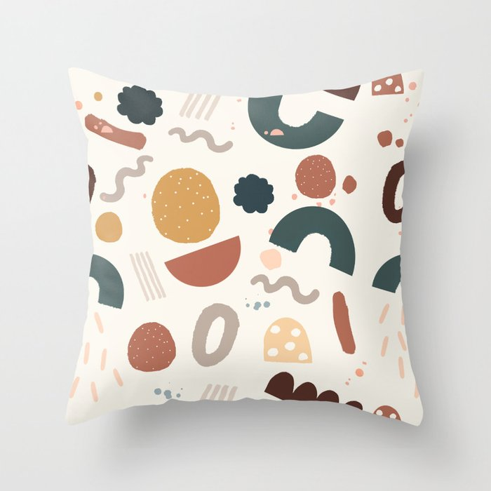Geo Shapes Party Throw Pillow