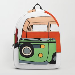 Van Life Camping Traveling Art Backpack