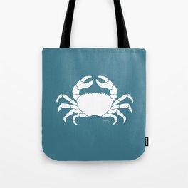 Crab Teal Background Tote Bag