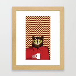 (vectored) The Owls Are Not What They Seem Framed Art Print