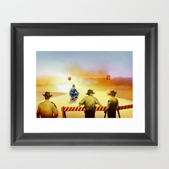 texas exile Framed Art Print