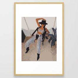 Danielle Bernstein of WeWoreWhat Fashion Illustration | Glam Fashion Illustration Art Print Framed Art Print