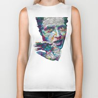 christopher walken Biker Tanks featuring christopher walken portrait  by Godhead
