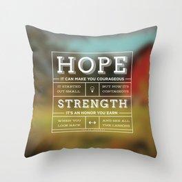 Hope & Strength Throw Pillow