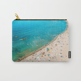 Keep Calm And Think Of The Beach   Aerial Print   Beach Print   Waves Art Print   Modern Wall Art Carry-All Pouch
