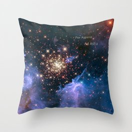 Per Aspera - ad Astra Throw Pillow