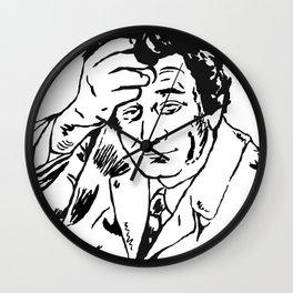 Lieutenant Columbo Portrait Wall Clock