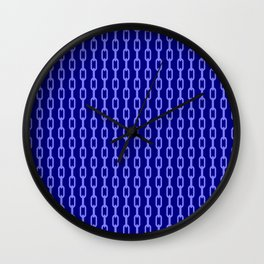 Chainlink No. 1 -- Blue Wall Clock