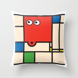Ooh Zoo – art-series, Mondrian Throw Pillow