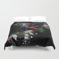 football Duvet Covers featuring Football Player by ron ashkenazi