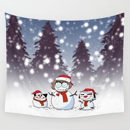Snowman Christmas Wall Tapestry