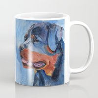 rottweiler Mugs featuring Rottweiler by Doggyshop