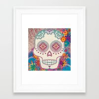 calavera Framed Art Prints featuring Calavera by Marie St. Claire