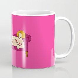 Nude lady wearing only hearts. Coffee Mug